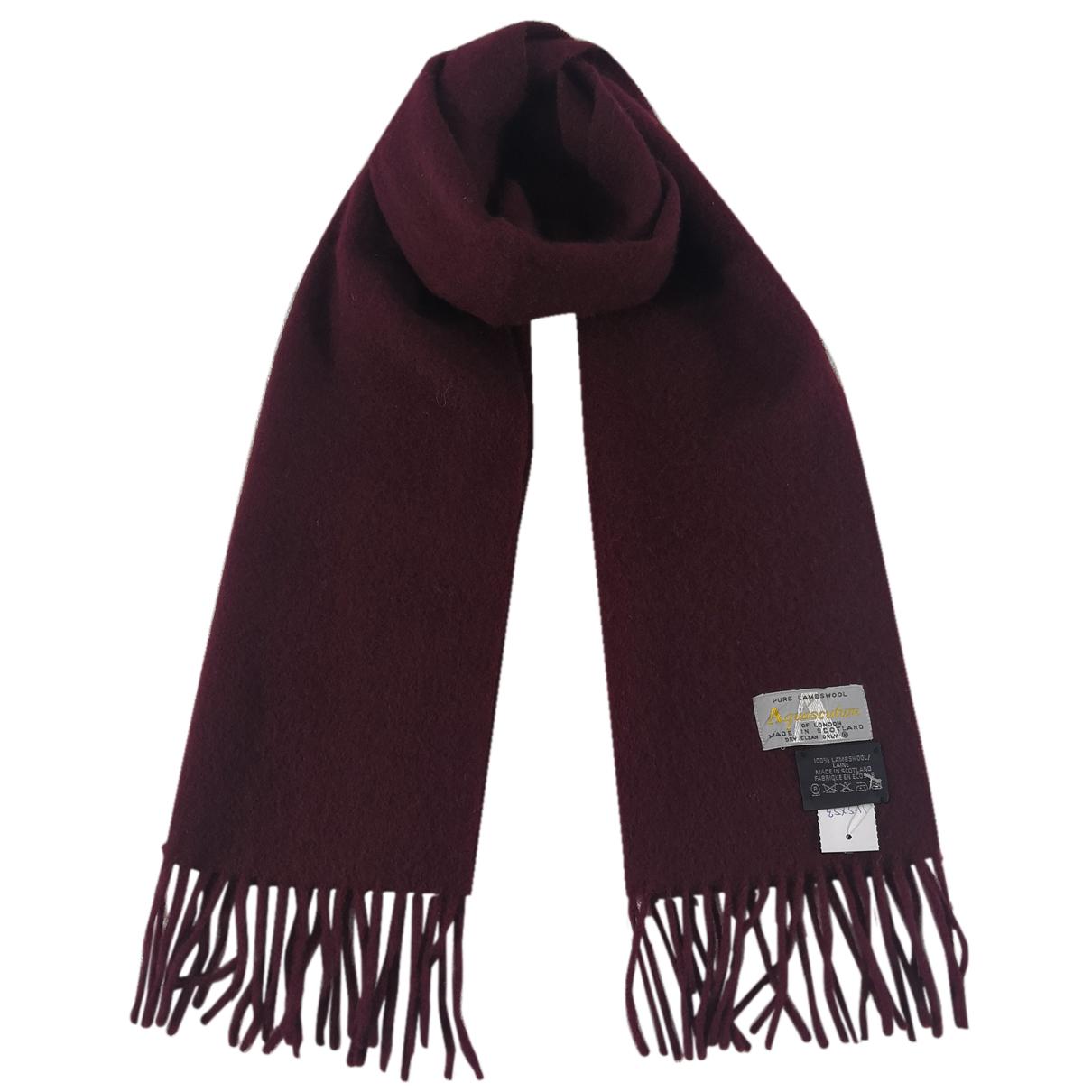 Aquascutum - Foulard   pour femme en laine - rouge