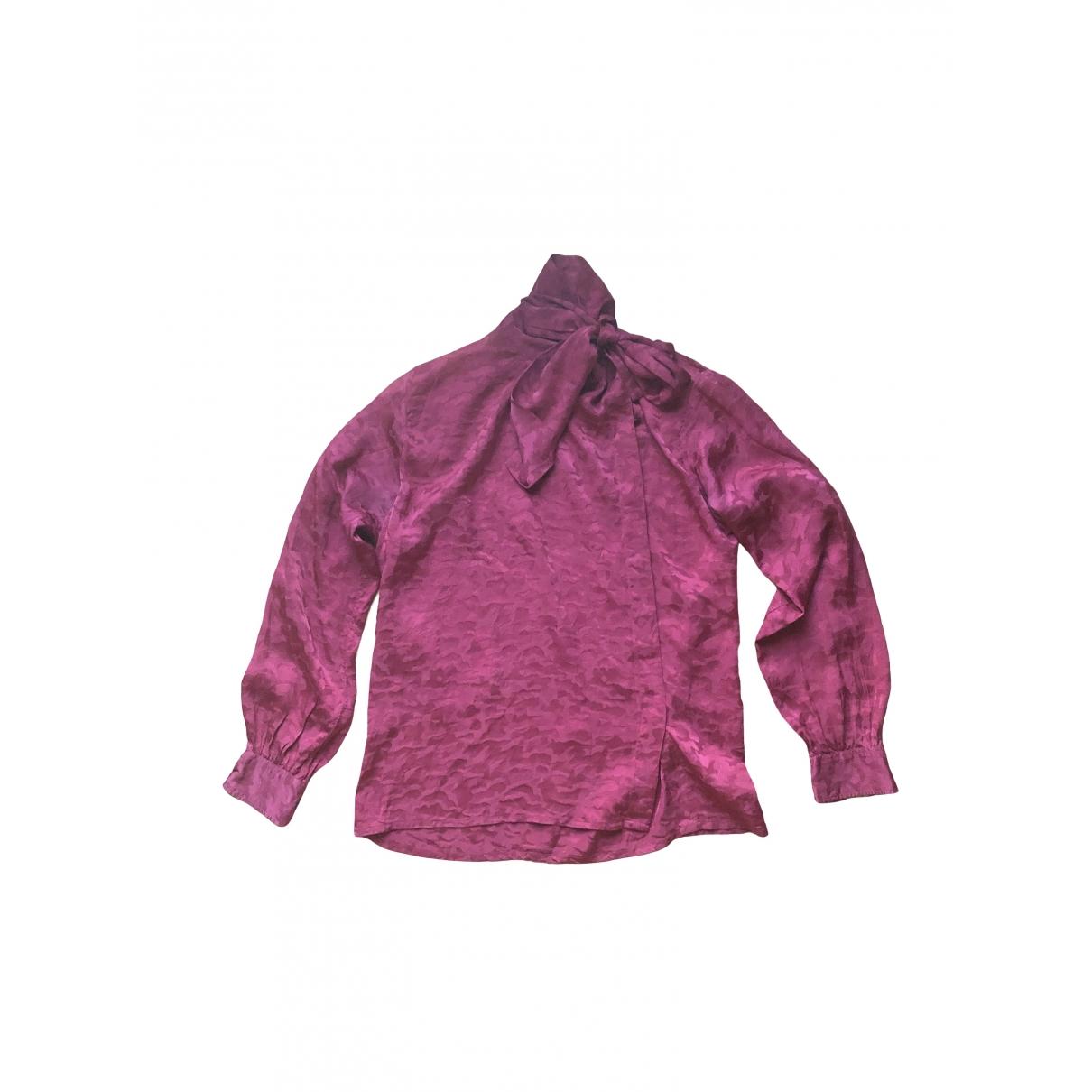 Yves Saint Laurent \N Burgundy Silk  top for Women 38 FR