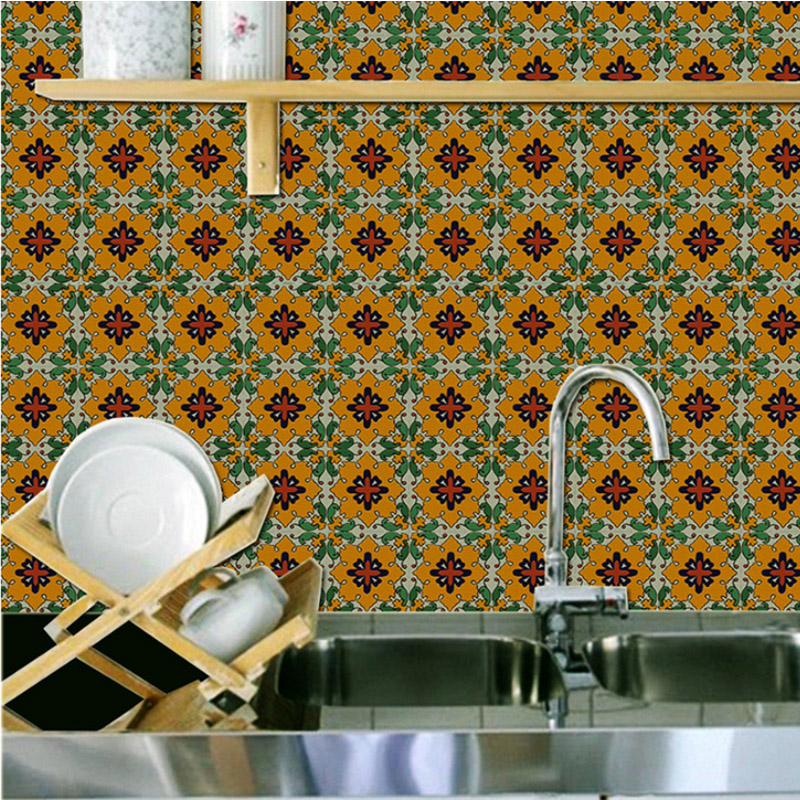 Bohemian Style Self-Adhesive Environmental Silk Cloth Material Wall Murals