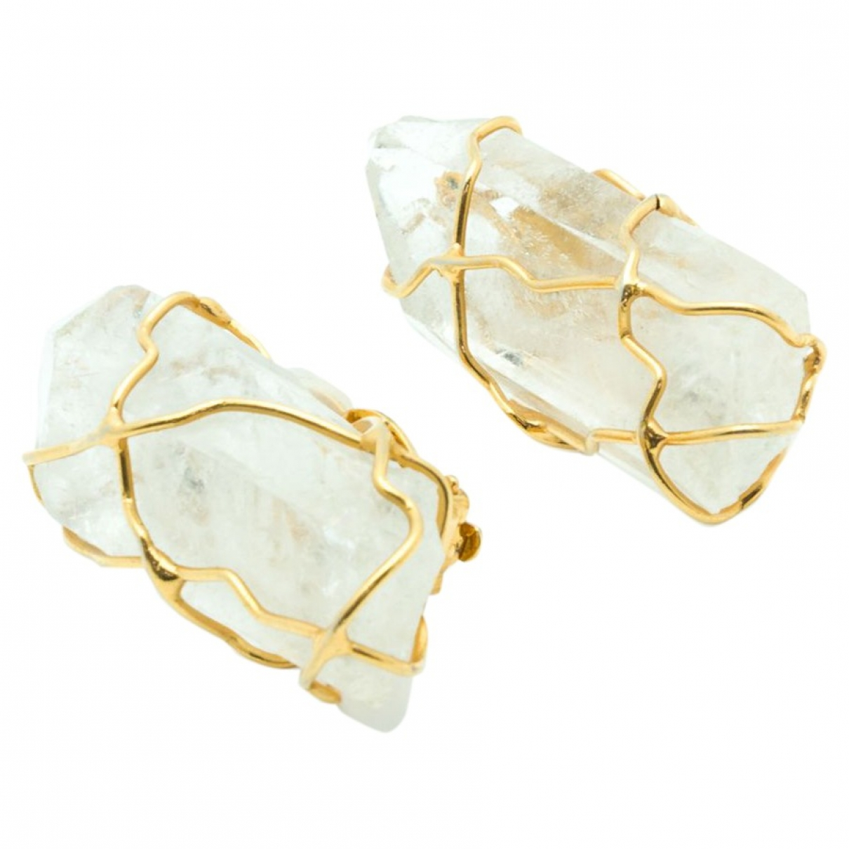 Yves Saint Laurent \N Gold Crystal Earrings for Women \N