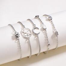 5pcs Heart Decor Bracelet