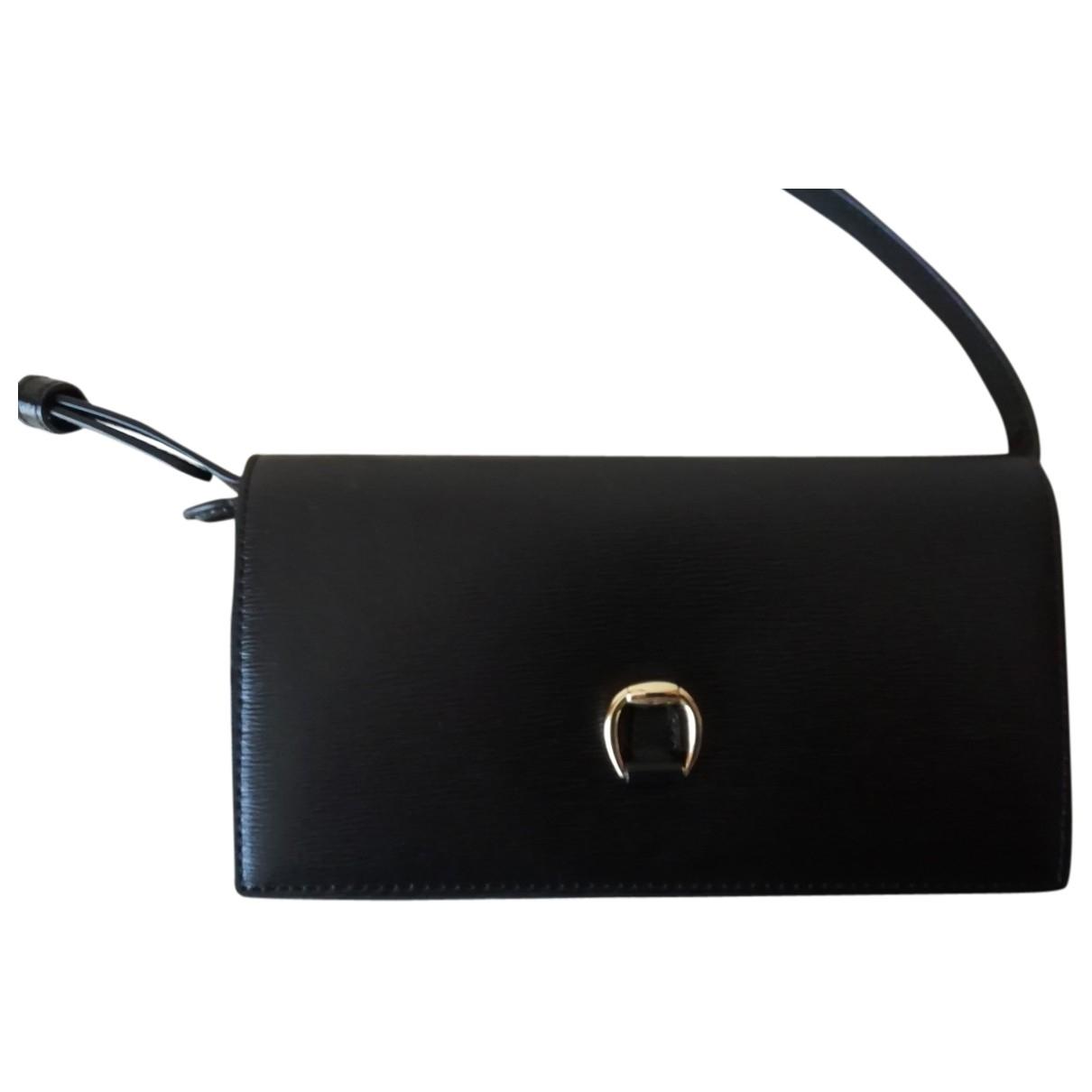 Bolsos clutch en Piel Negro Lauren Ralph Lauren
