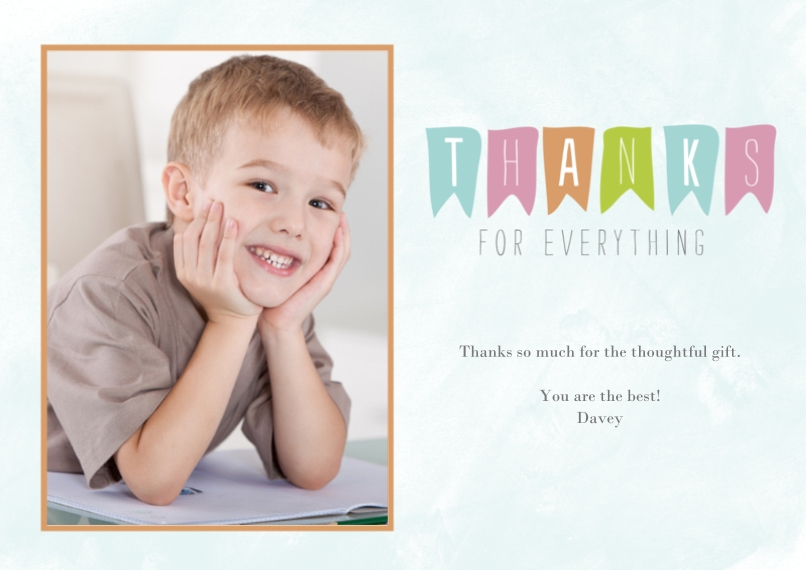 Thank You Cards 5x7 Cards, Standard Cardstock 85lb, Card & Stationery -Grateful Banner