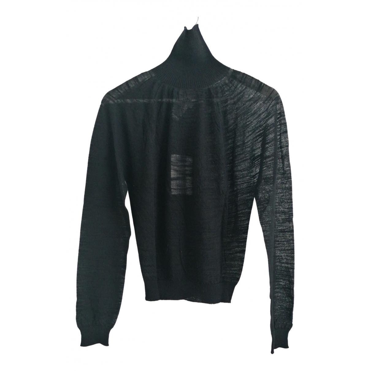 Lemaire - Pull   pour femme en laine - noir