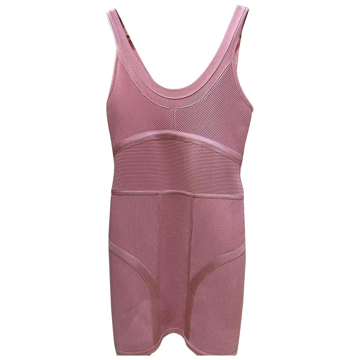 Herve Leger - Robe   pour femme - rose