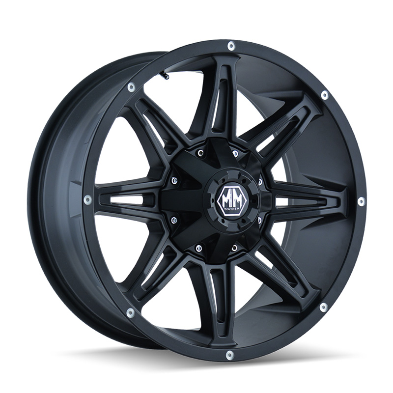 Mayhem Rampage 8090 Matte Black 20x9 6x135 | 6x139.7 0mm 108mm Wheel
