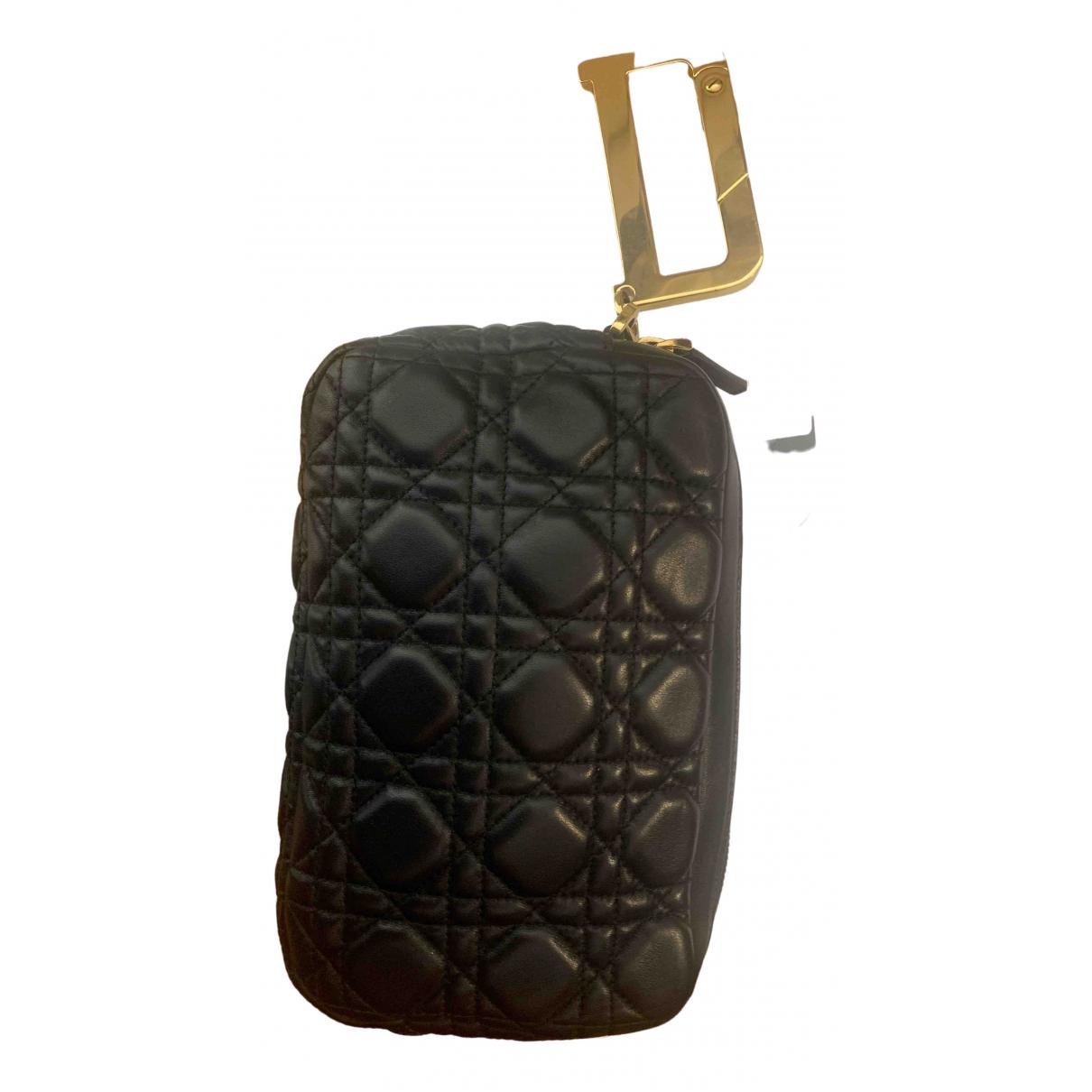 Dior - Pochette Diorquake pour femme en cuir - noir