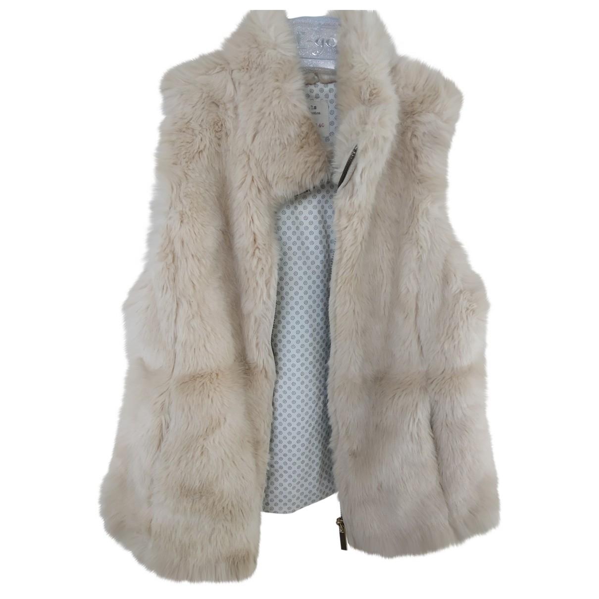 Zara - Blousons.Manteaux   pour enfant en fourrure synthetique - blanc