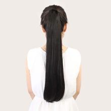 Natuerliches langes glattes Pferdeschwanz Haar