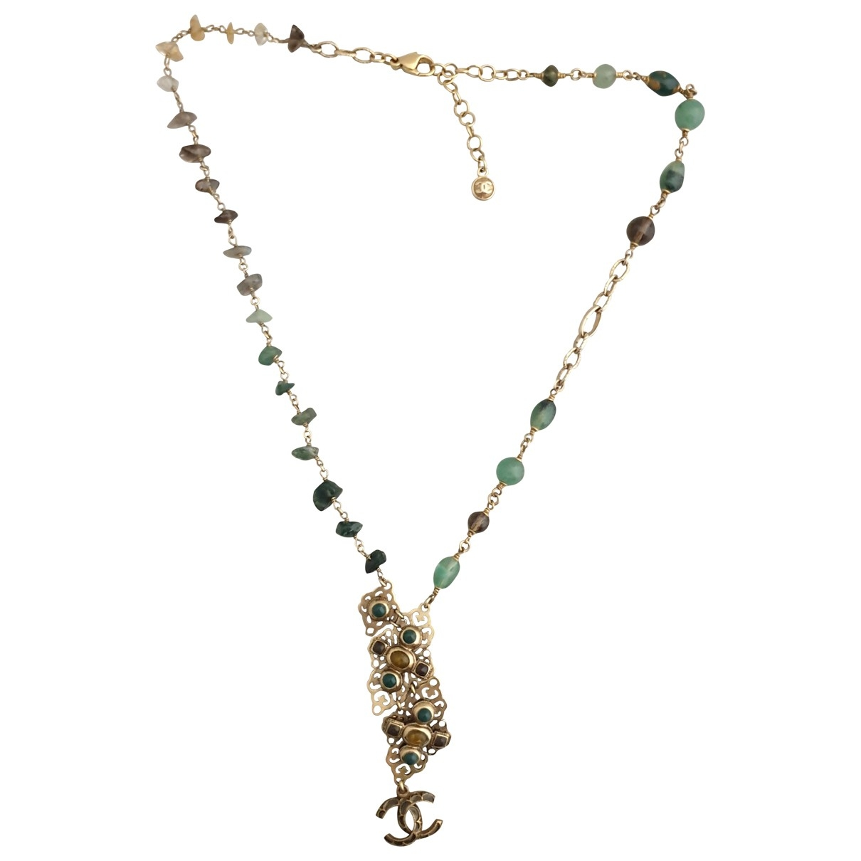 Chanel CC Green Gold plated necklace for Women \N