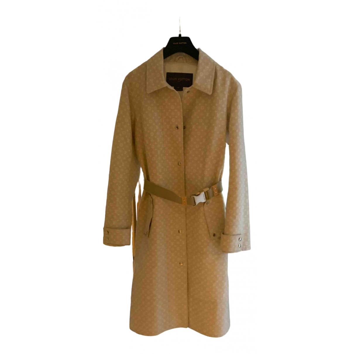 Louis Vuitton \N Beige Cotton coat for Women 36 FR