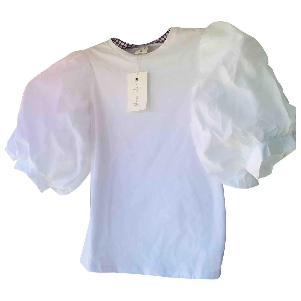 Johanna Ortiz X H&m - Top   pour femme en coton - blanc