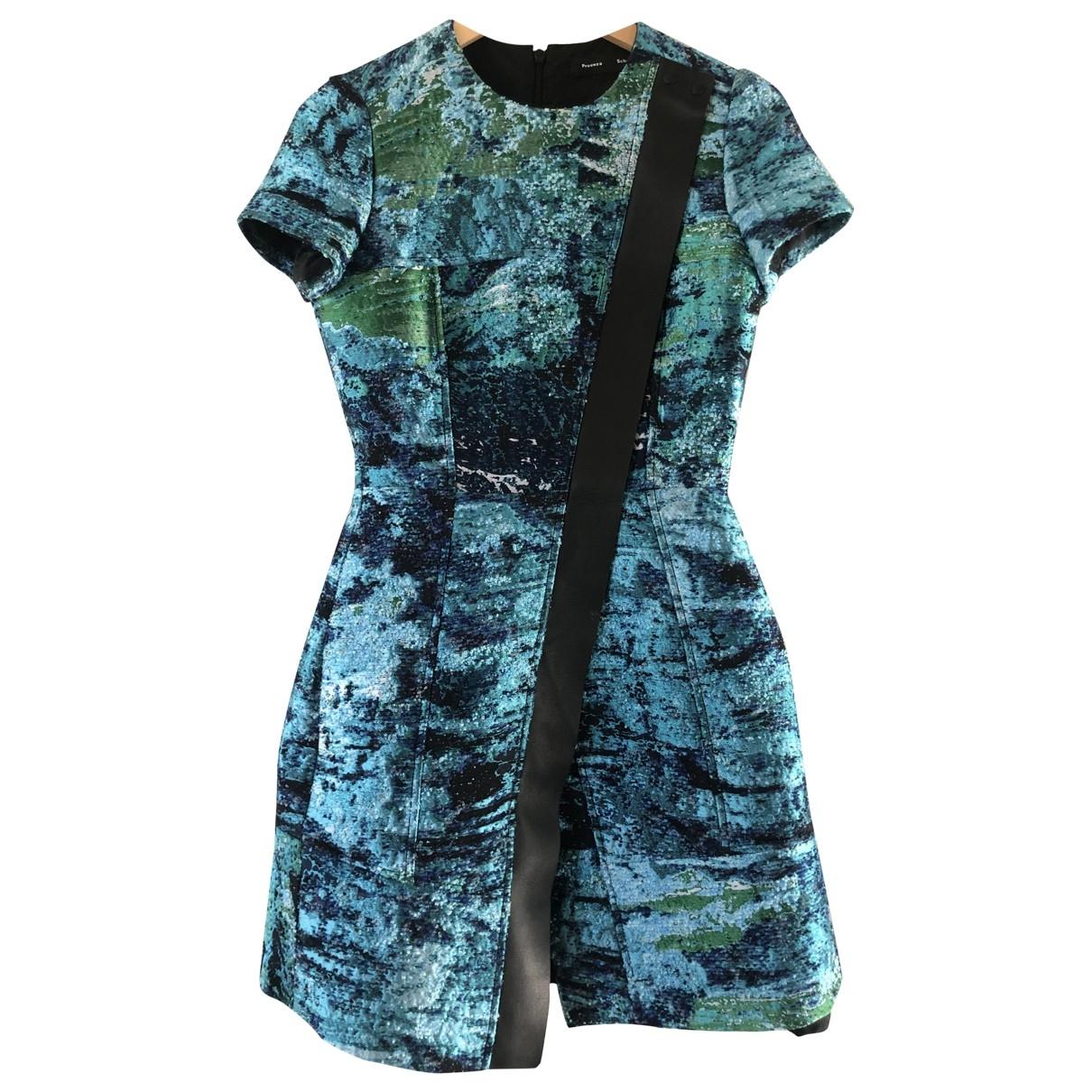 Proenza Schouler \N Kleid in  Blau Viskose