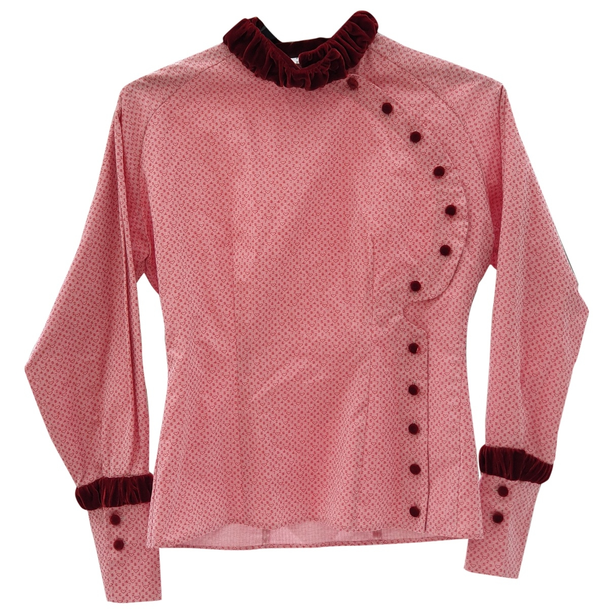 Non Signé / Unsigned \N Red Cotton  top for Women One Size UK