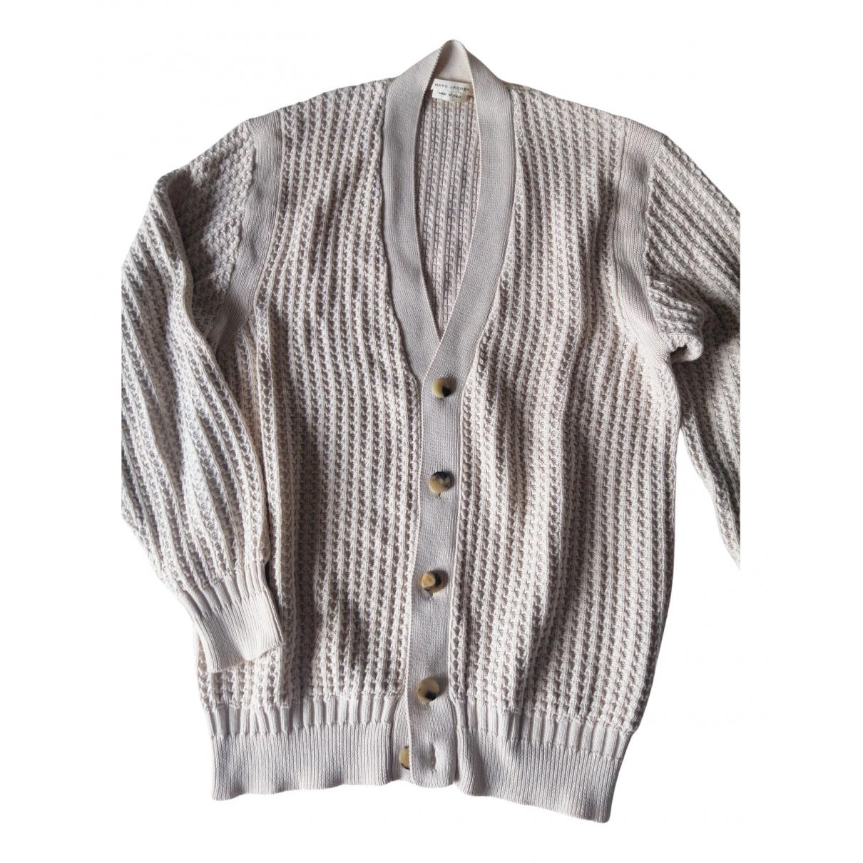 Marc Jacobs \N Pullover.Westen.Sweatshirts  in  Ecru Baumwolle