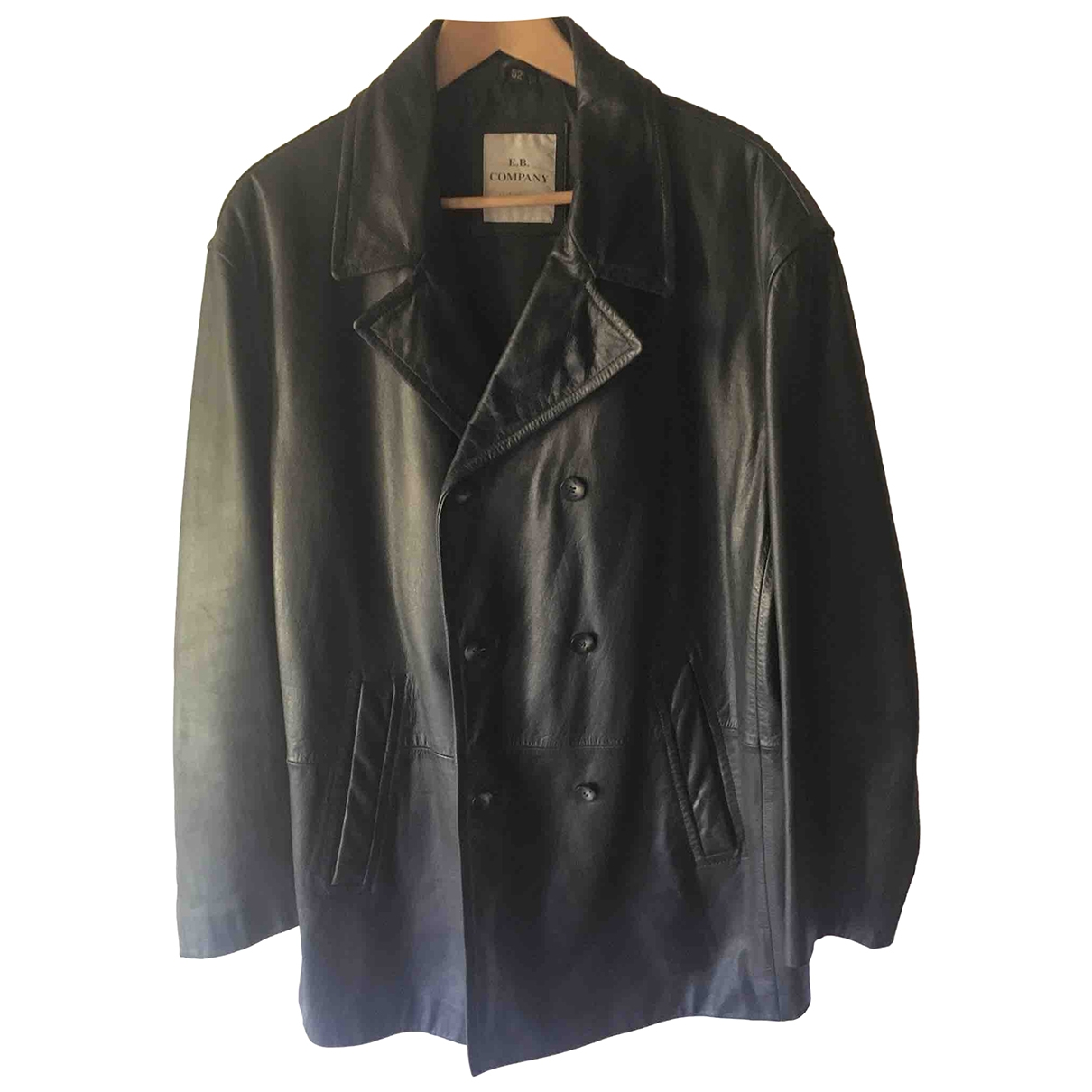 Non Signé / Unsigned \N Black Leather jacket  for Men 52 IT