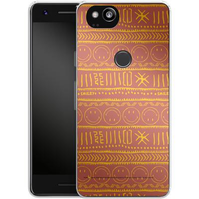 Google Pixel 2 Silikon Handyhuelle - Tribal Orange von Smiley®