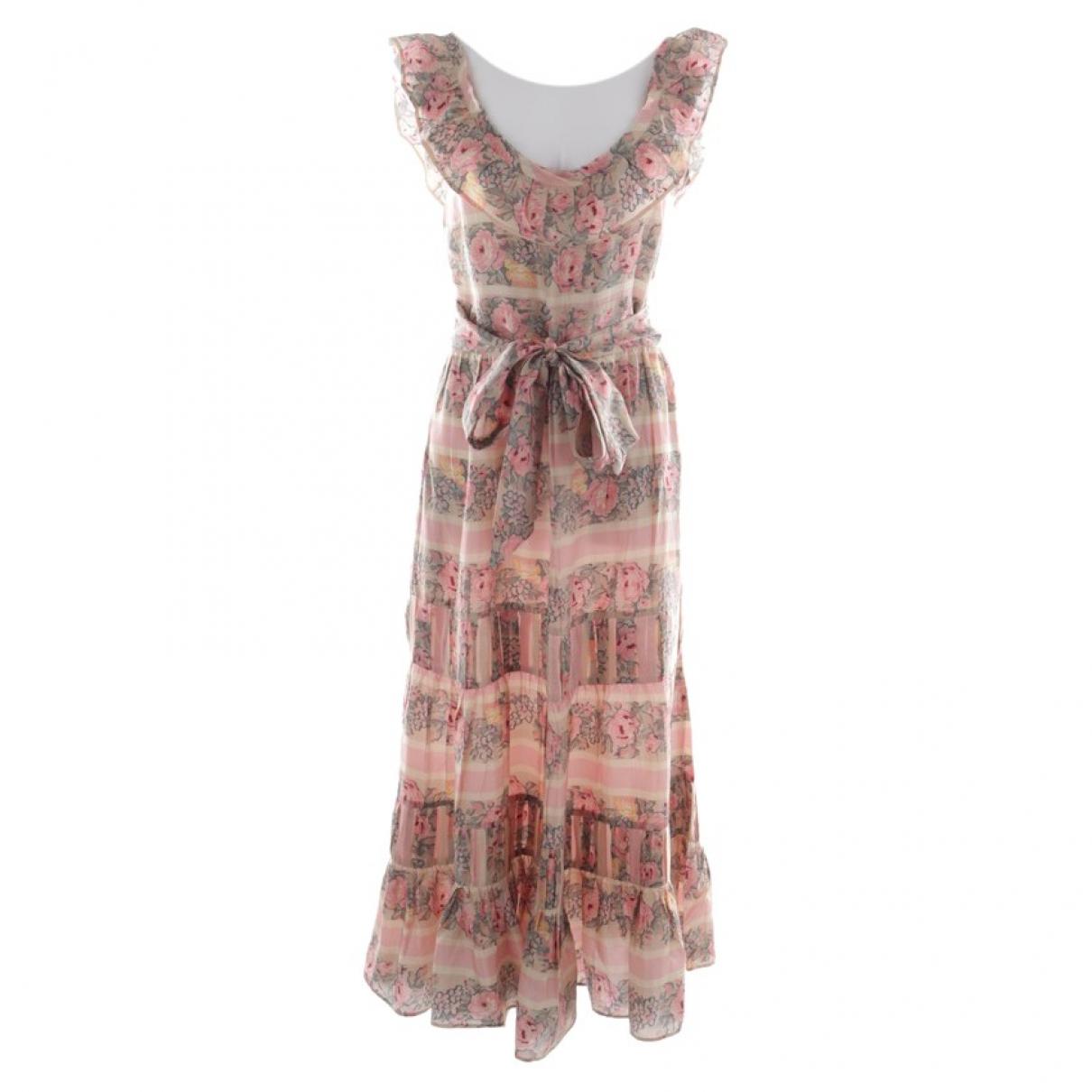 Love Shack Fancy \N Kleid in  Bunt Seide