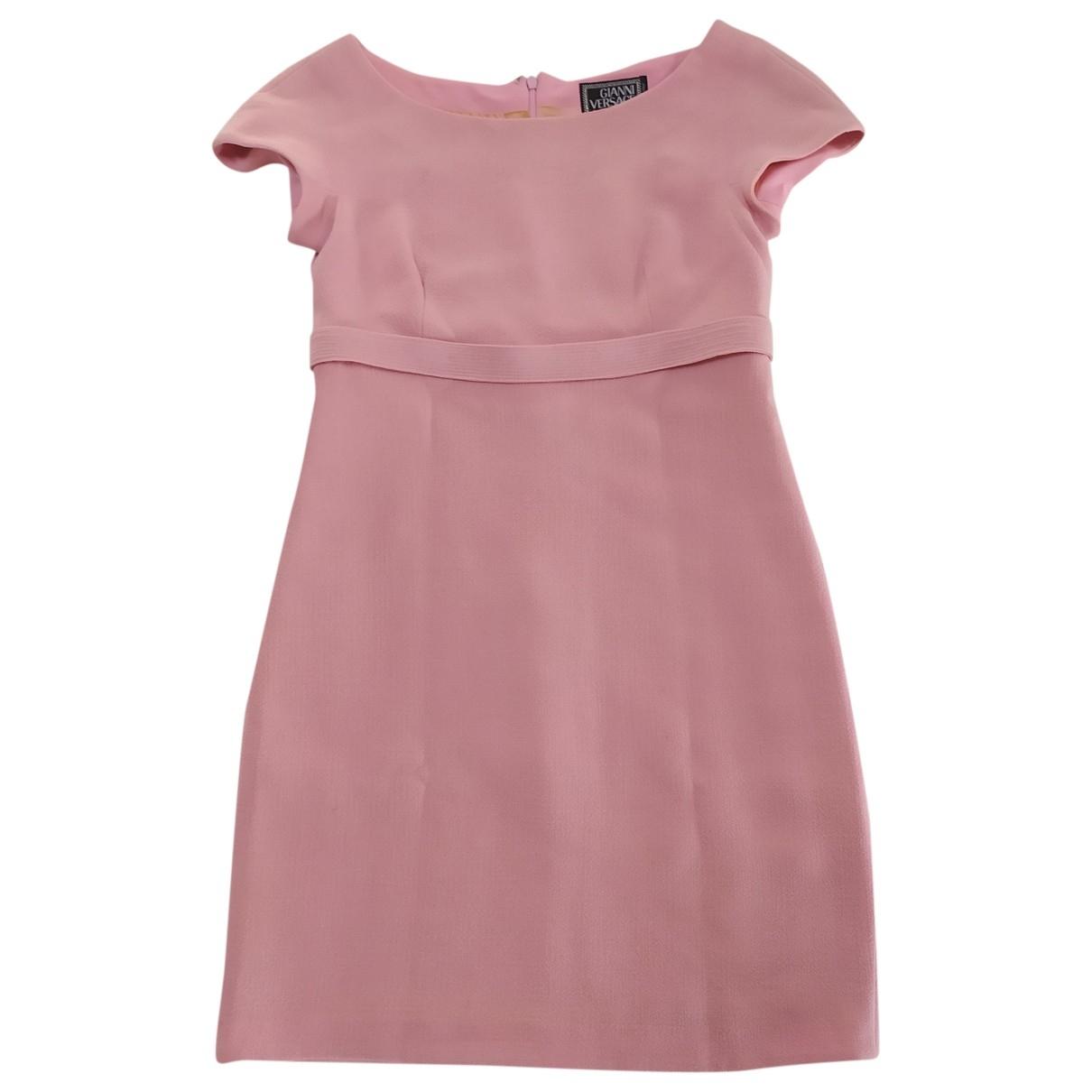Gianni Versace \N Kleid in  Rosa Synthetik
