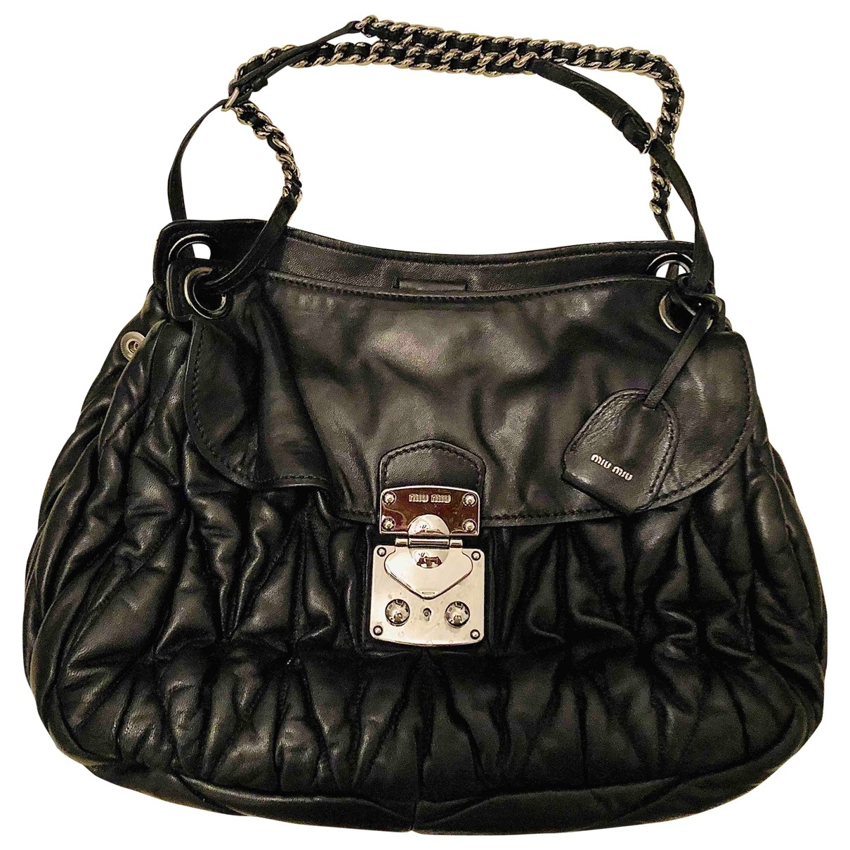 Miu Miu Coffer Black Leather handbag for Women \N