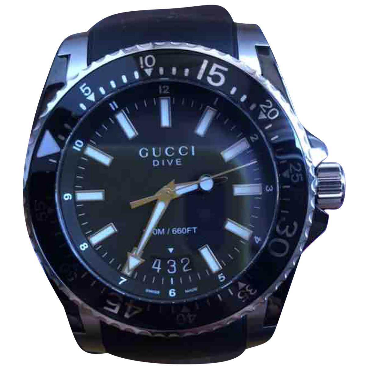 Gucci - Montre Dive pour homme en acier - noir
