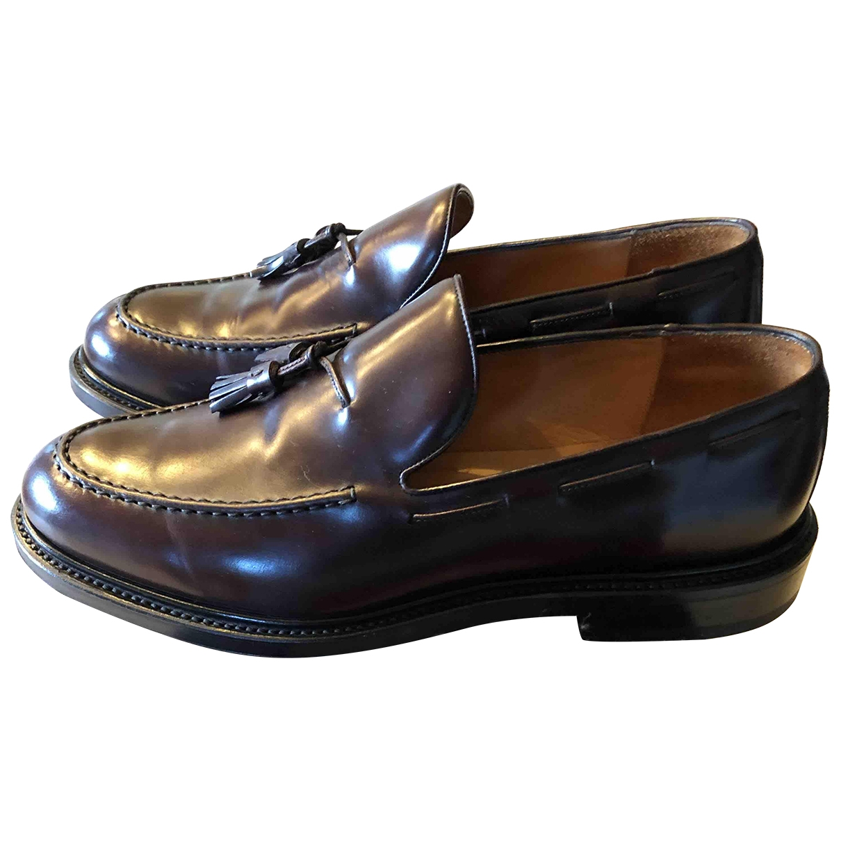 Non Signé / Unsigned \N Brown Leather Flats for Men 43 EU