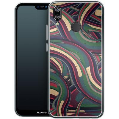 Huawei P20 Lite Silikon Handyhuelle - Swirl Madness von Danny Ivan