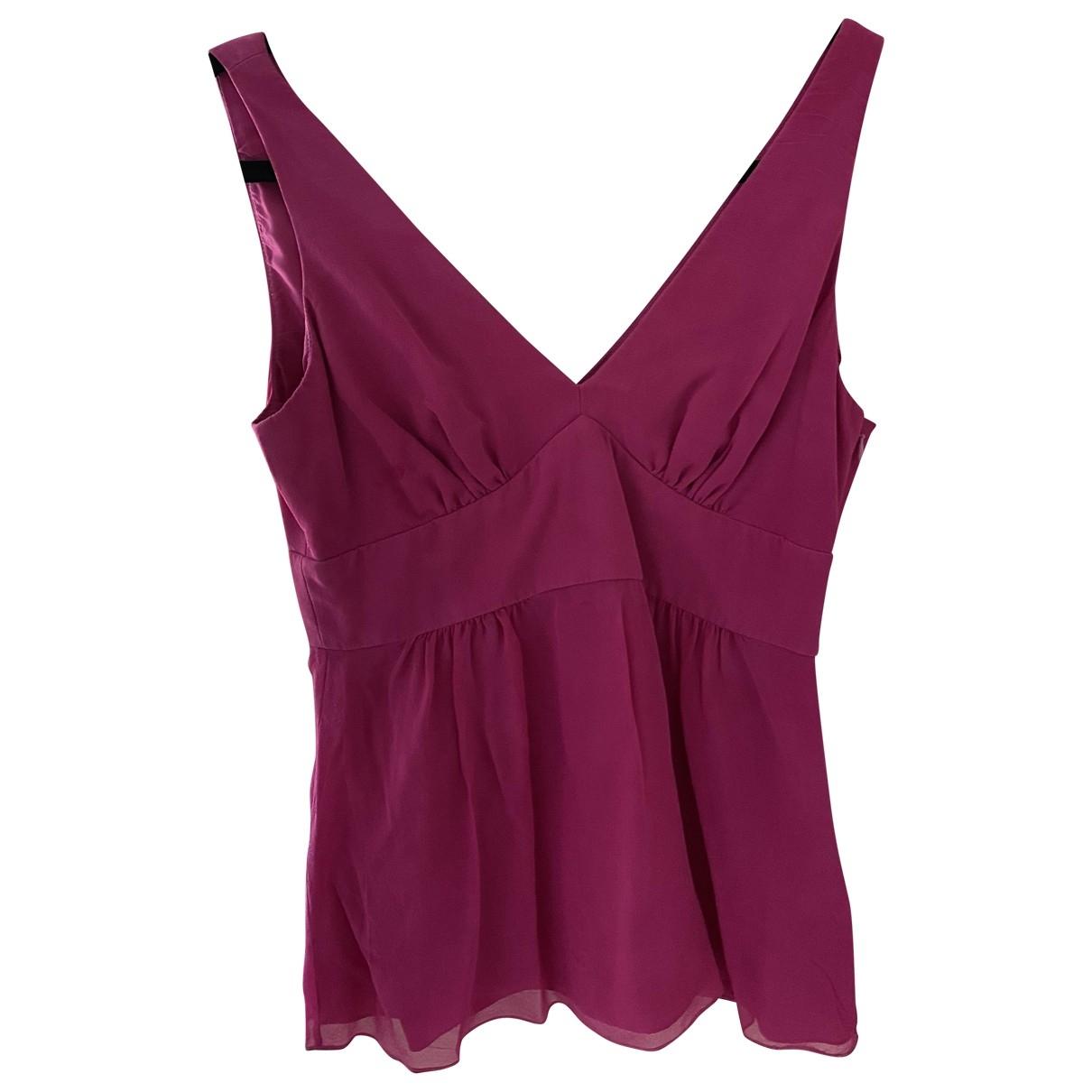 Tibi - Top   pour femme en soie - rose