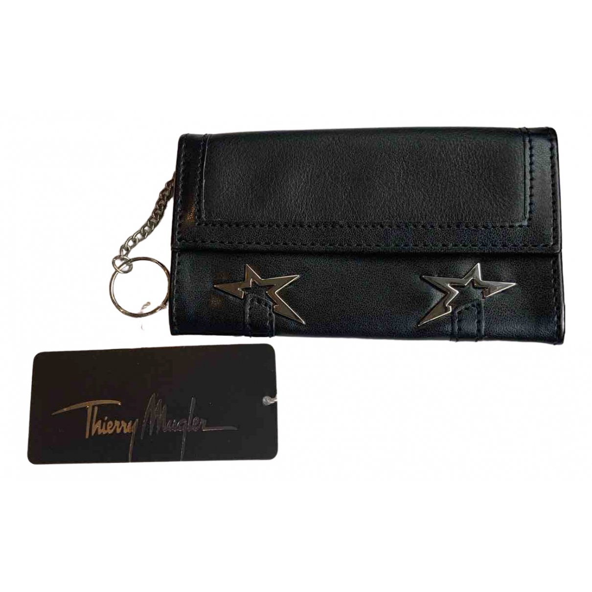 Thierry Mugler N Black Leather wallet for Women N