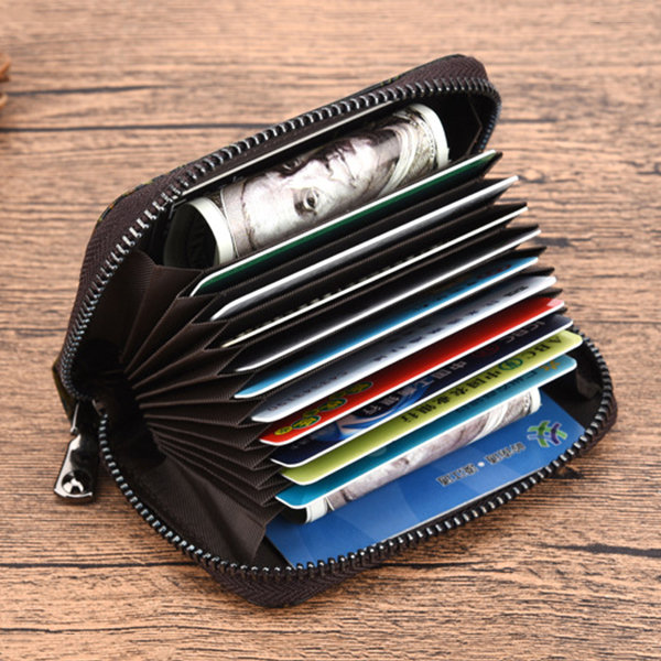 Leather Embossing Multi-slots 20 Card slots Card Holder Small Wallet Coin Bag For Women