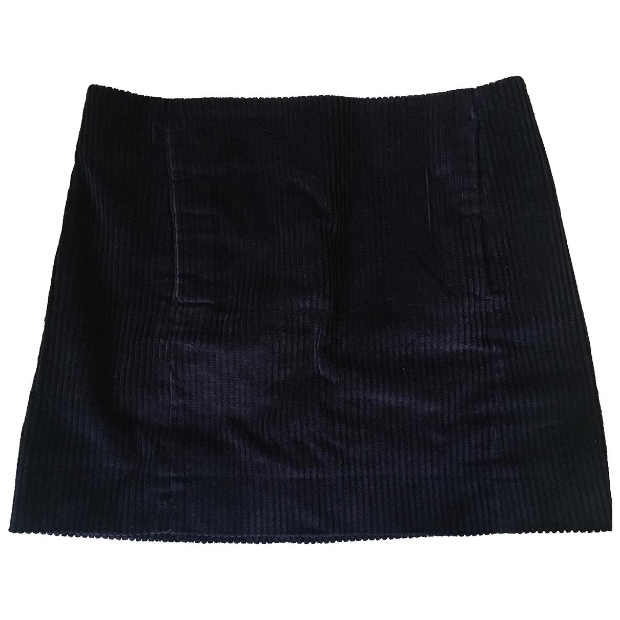 Cos - Jupe   pour femme en coton - bleu