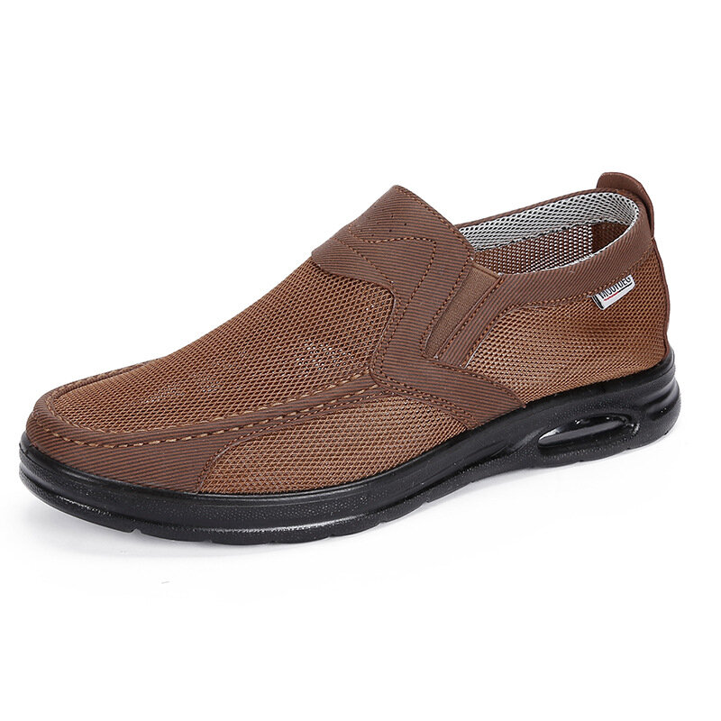 Men Mesh Breathable Slip On Air-cushionSole Casual Shoes