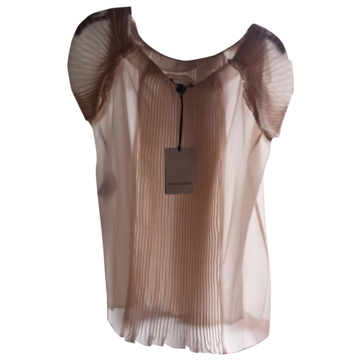 Tara Jarmon \N Pink Cotton  top for Women 36 FR
