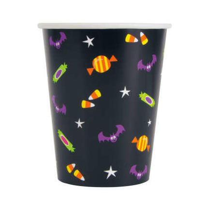 Halloween Cat & Pumpkin 9oz Paper Cups 8Pcs/Pack