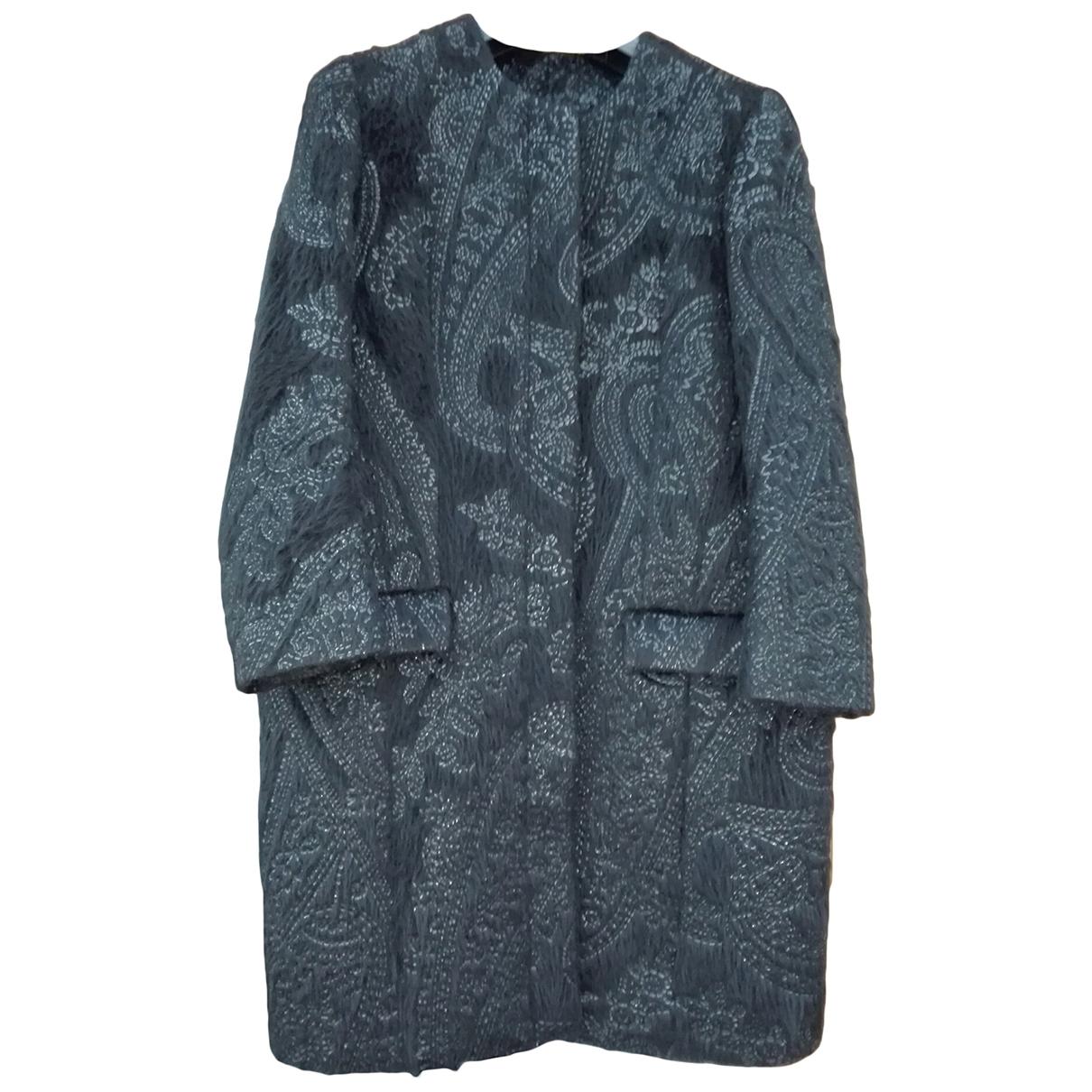 Etro \N Black Wool coat for Women 42 IT