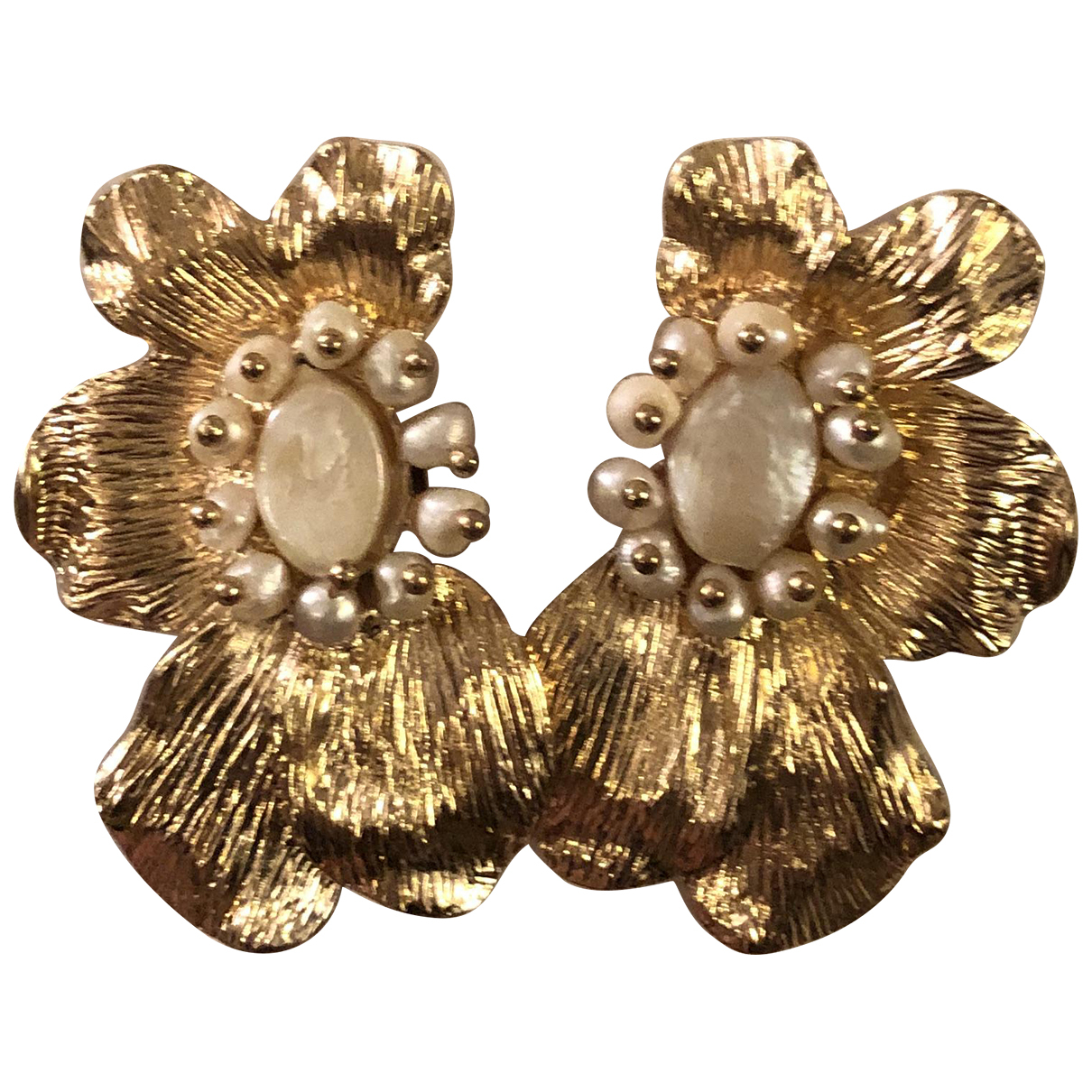 Zara N Gold Pearl Earrings for Women N