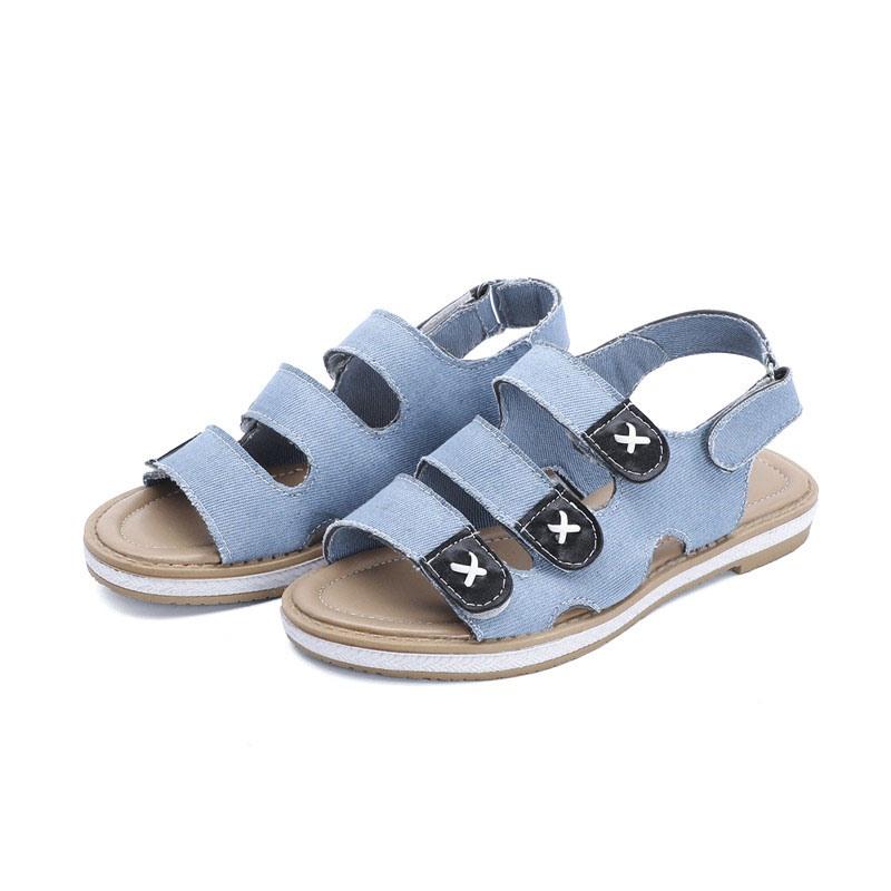 Ericdress Block Heel Open Toe Velcro Casual Sandals