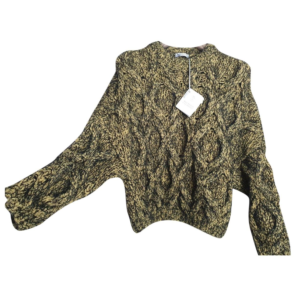 Brunello Cucinelli \N Pullover in  Gelb Wolle