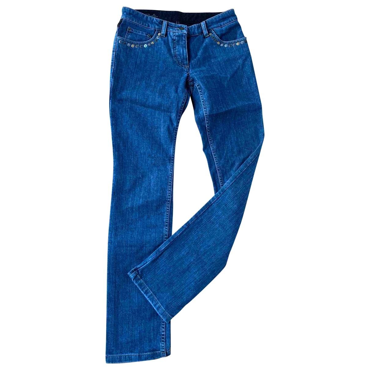 Louis Vuitton - Pantalon   pour femme en coton - bleu