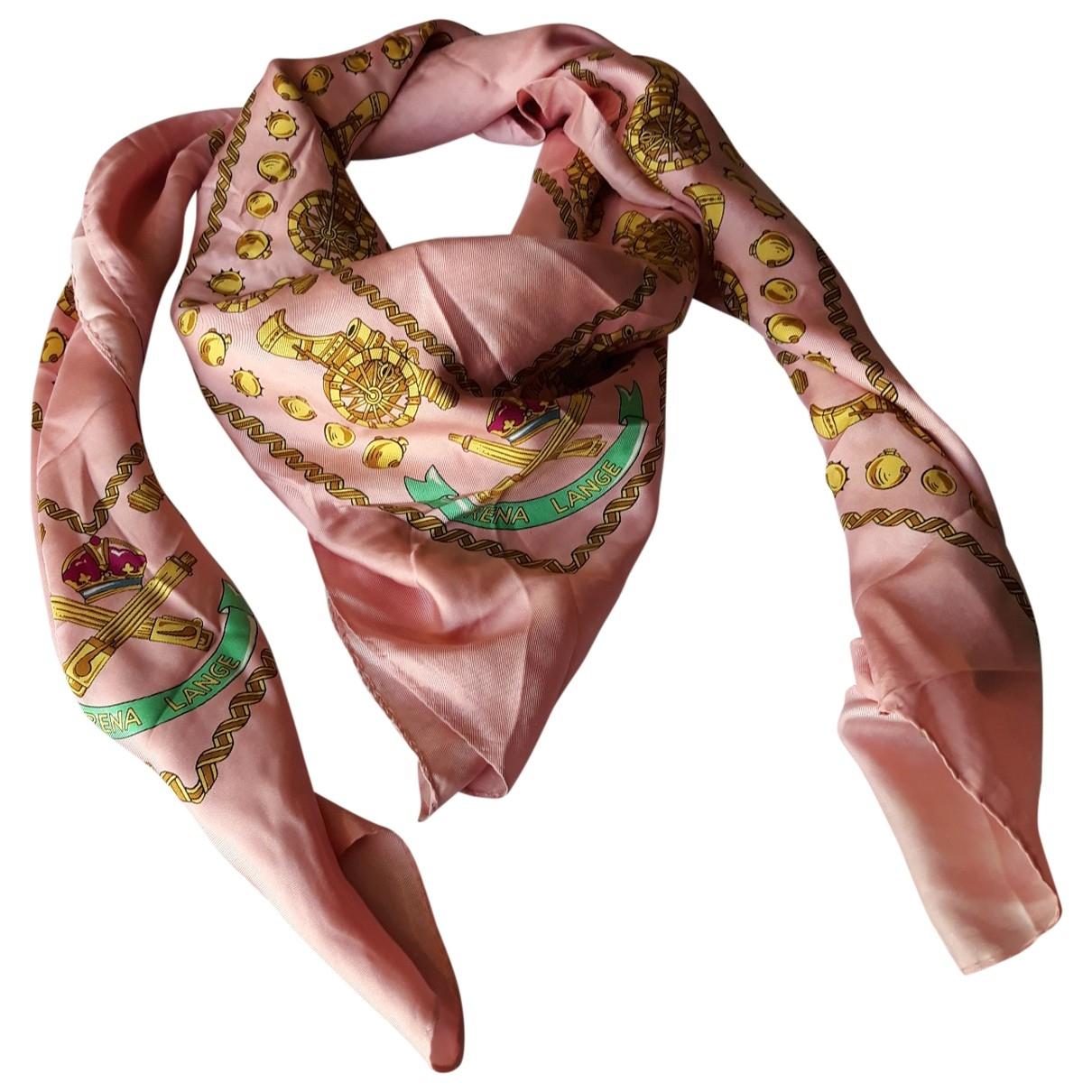 Rena Lange \N Pink Silk scarf for Women \N