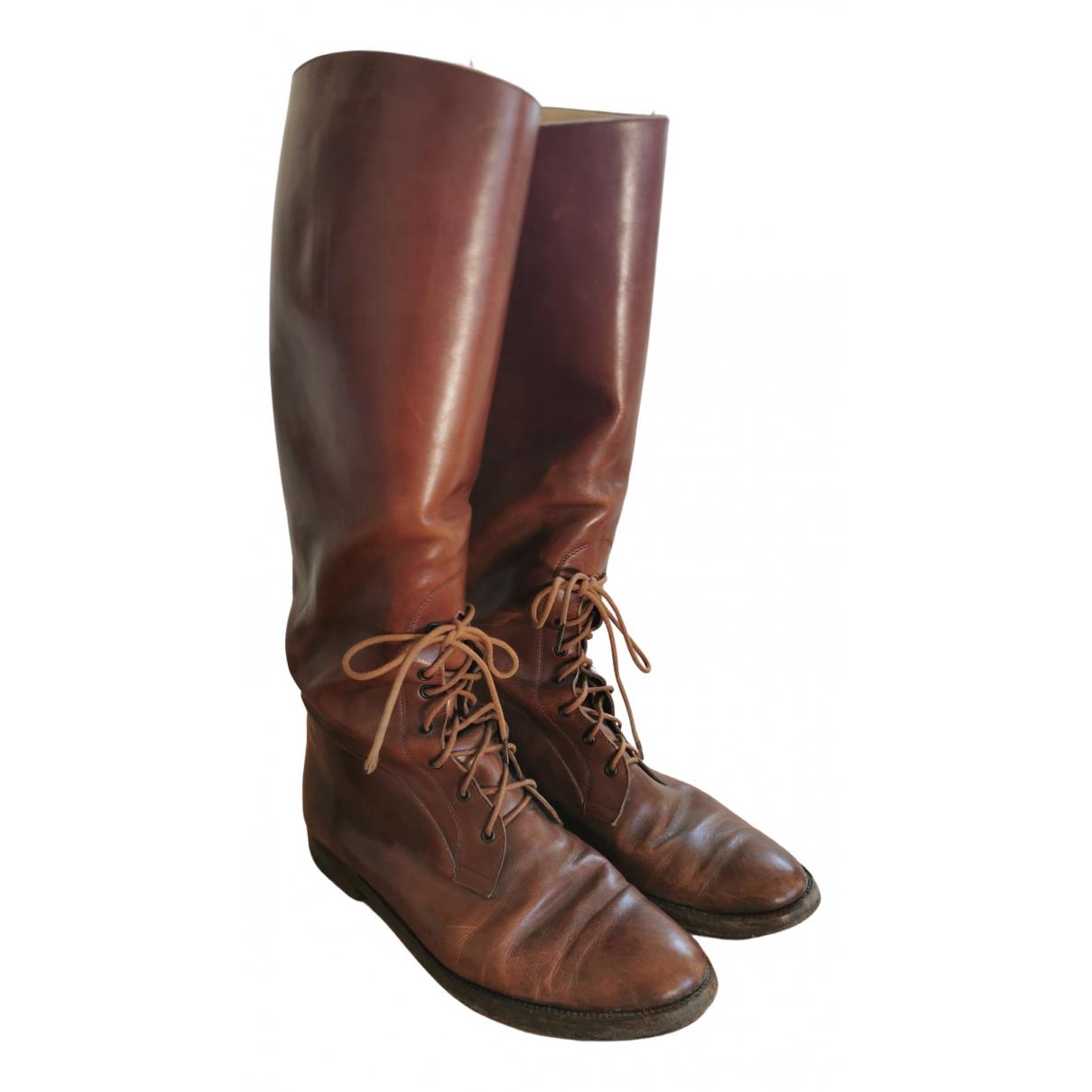 Ralph Lauren \N Stiefel in  Braun Leder
