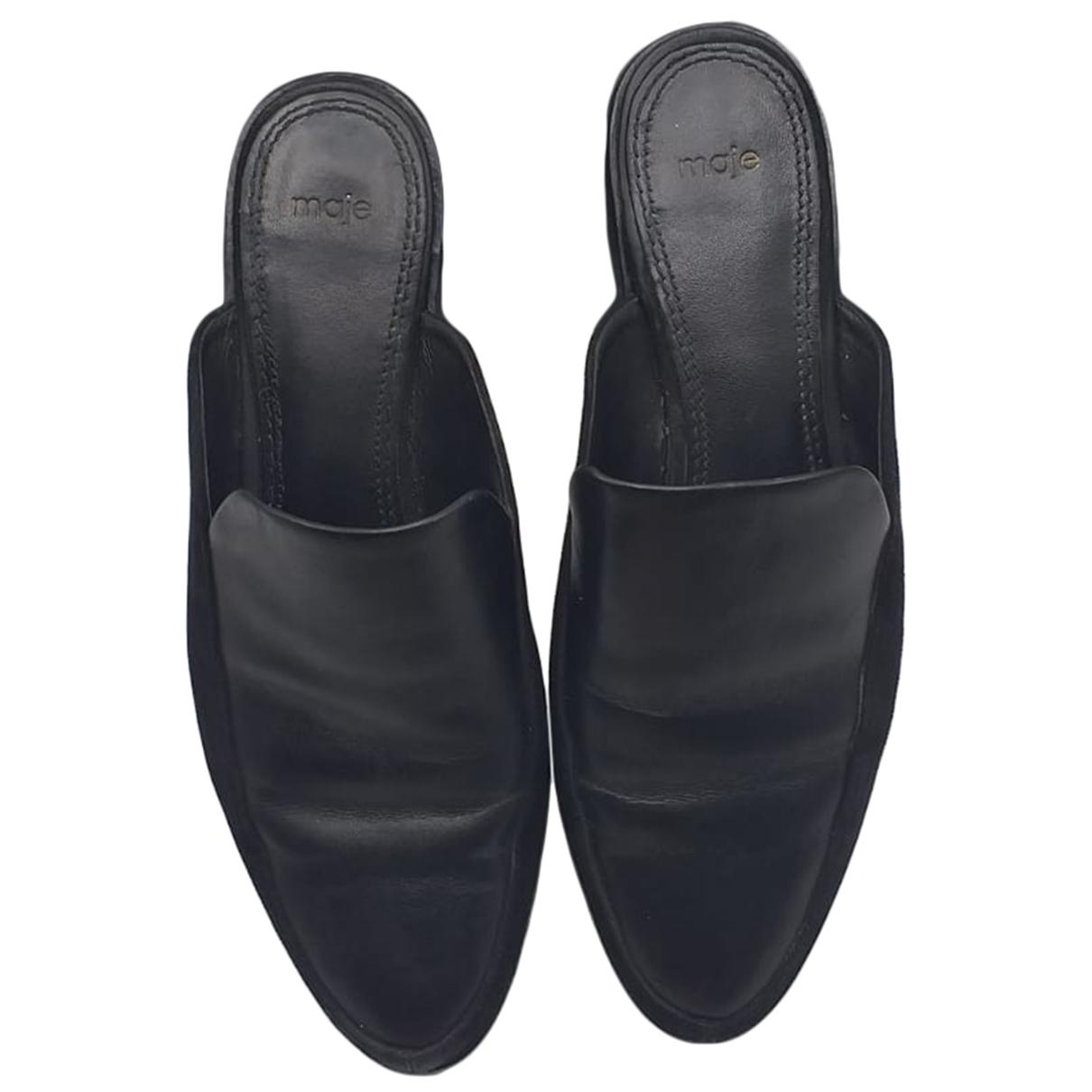 Maje - Sandales   pour femme en cuir - noir