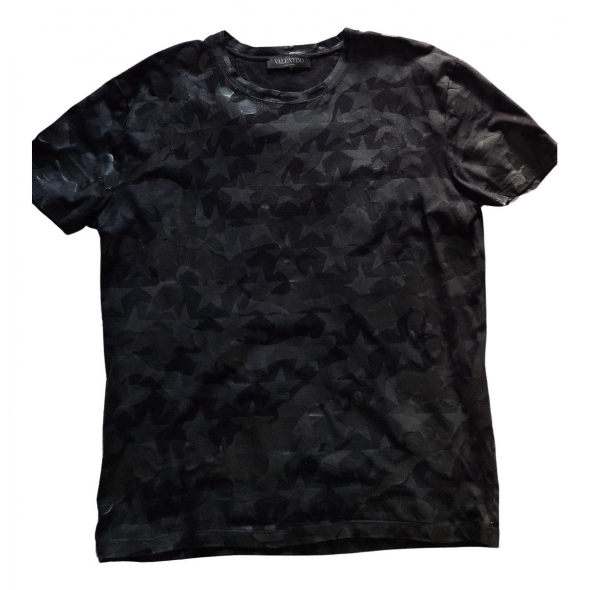 Valentino Garavani - Tee shirts   pour homme en coton - noir
