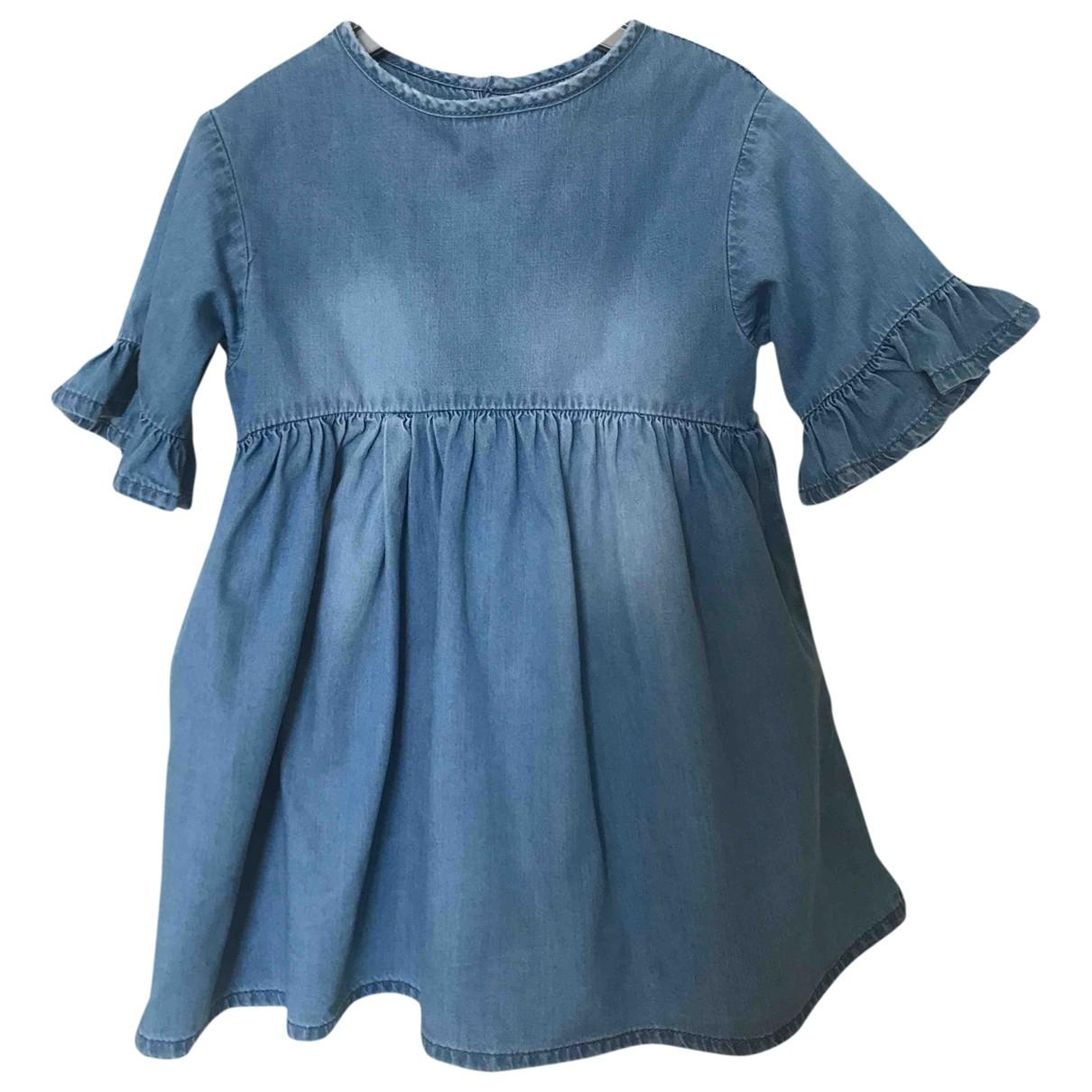 Zara - Robe    pour enfant en denim - bleu