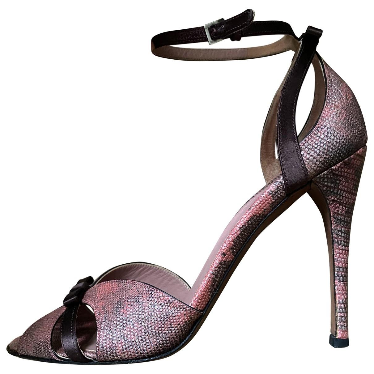 Alaia - Escarpins   pour femme en cuir - violet