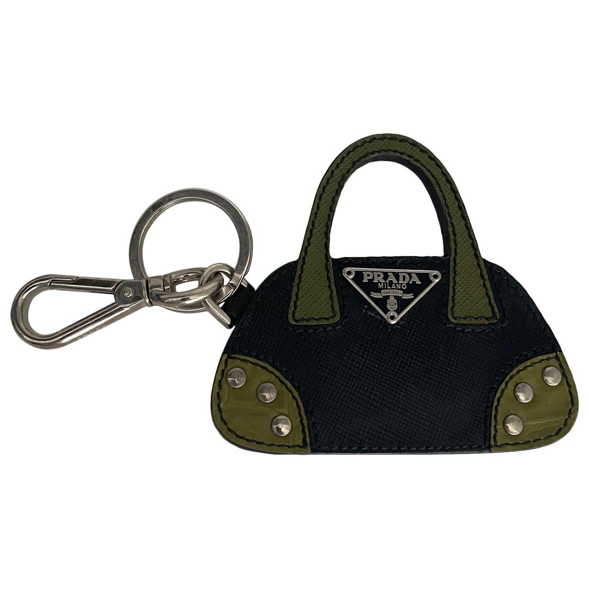 Prada - Bijoux de sac   pour femme en cuir - noir