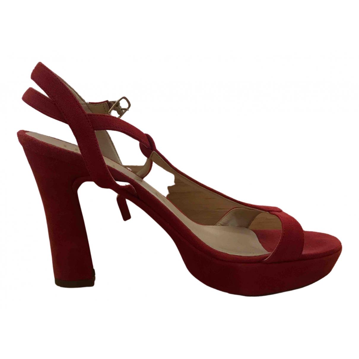 Unisa - Sandales   pour femme en cuir - rouge