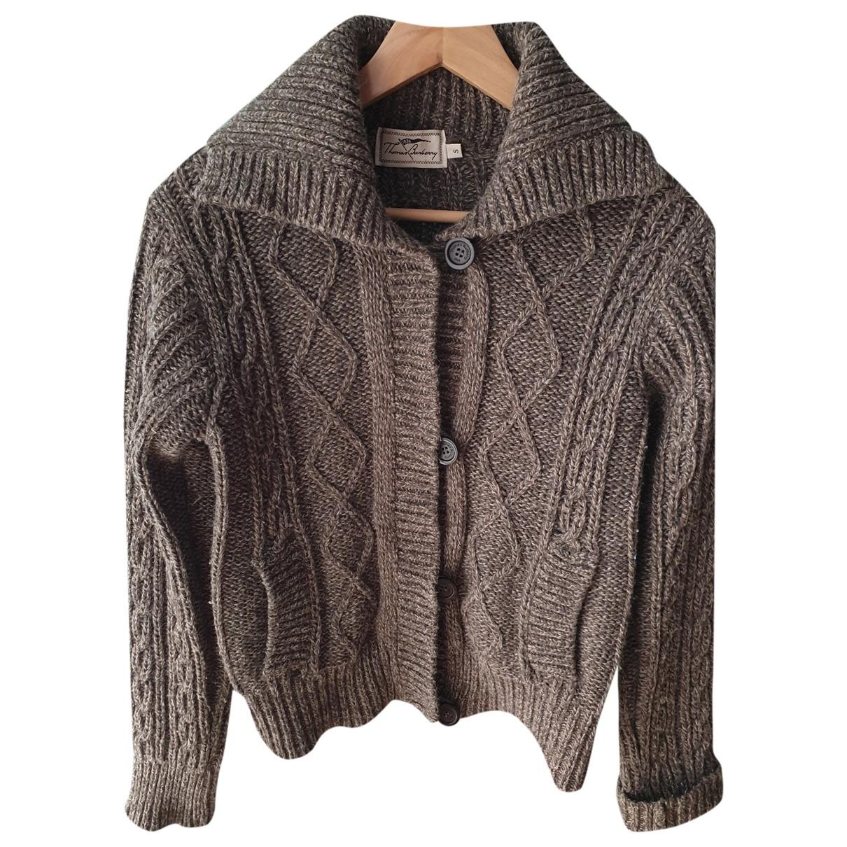 Burberry - Pull   pour femme en laine - marron