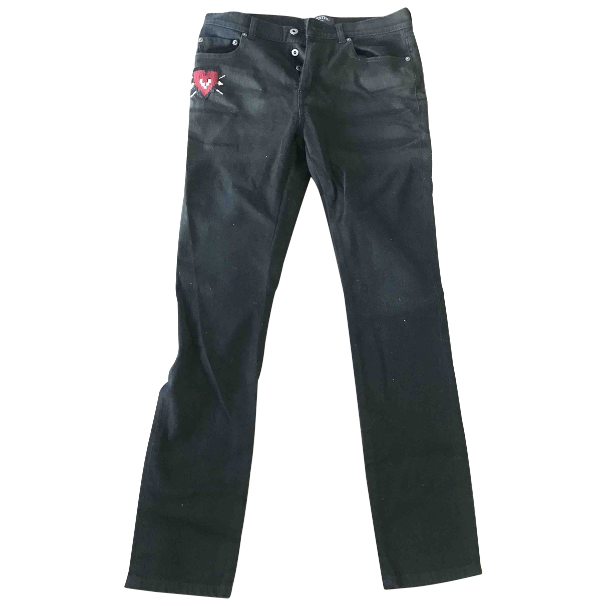 Valentino Garavani \N Black Cotton - elasthane Jeans for Men 31 US