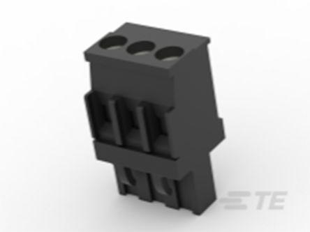 TE Connectivity , TB 5mm Pitch, 3 Way PCB Terminal Block, Black (100)